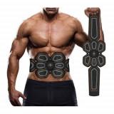 Cumpara ieftin Centura Matheus pentru electrostimulare, abdomen, muschii oblici, alimentare USB