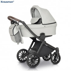 Krausman - Carucior 3 in 1 Rider Soft Light Grey