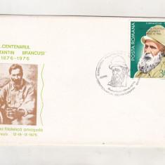 Bnk fil Plic ocazional Expofil Centenar C Brancusi Bucuresti 1976, Romania de la 1950, Oameni