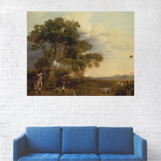 Tablou Canvas, Barbati la Vanatoare - 80 x 100 cm