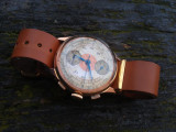 Ceas Cronograf Aur 18K - Model extrem de rar, oferta unica!, Lux - elegant, Mecanic-Manual