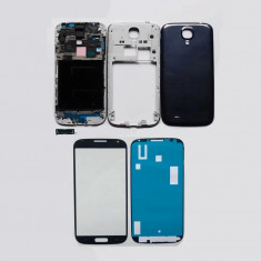 Carcasa completa Samsung Galaxy S4 i9500 i9505 rama mijloc geam sticla corp capac spate capac baterie ORIGINALA NOUA