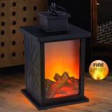 Felinar LED efect real foc de semineu, temporizator, protectie IP20