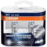Bec Far Osram Nihgt Breaker Unlimited H1 12V/55W +110% 2 bucati