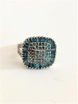 BLUE DIAMOND - Diamante Albastre Inel deosebit foto