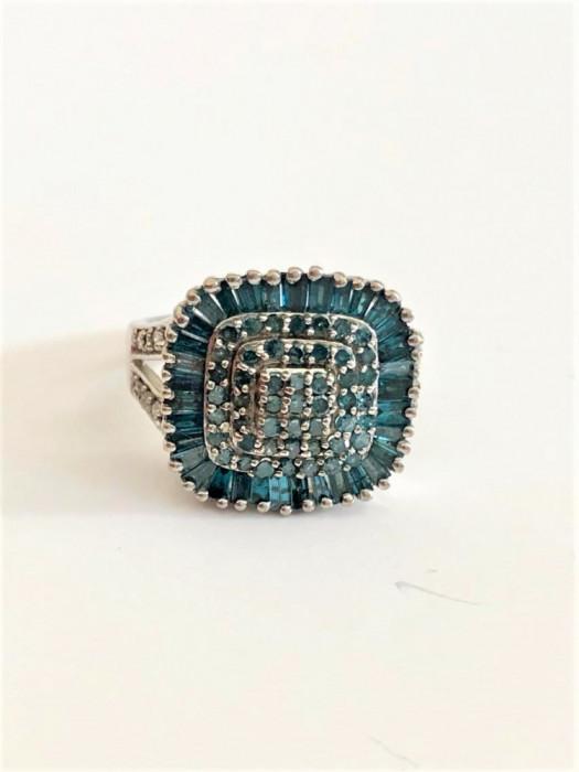 BLUE DIAMOND - Diamante Albastre Inel deosebit