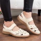 Pantofi Piele Basoc bej -rl