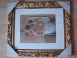 Tablou cu rama, absolut nou, ambalaj original - subiect nud, Acrilic, Altul