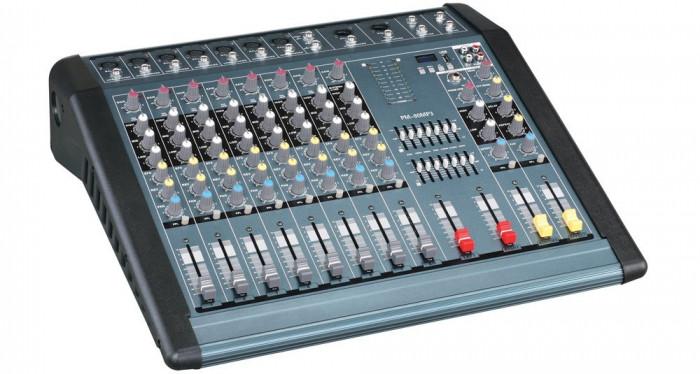 Mixer profesional putere 1300W MP3 Player, 12 canale, efecte voce