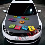 """Sticker Imprimat Color pentru Capota """"Hood Art"""" cod: KM-HOOD-215"""