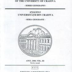 Analele Universitatii din Craiova - Seria Geografie, anul 2000, vol. 3