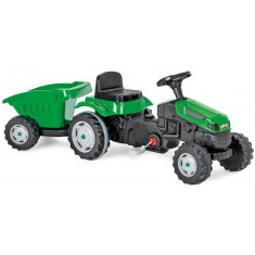 Tractor copii cu pedale si remorca Pilsan Active Verde