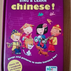 Sing & learn chinese! Carte cu cd invatare limba chineza copii