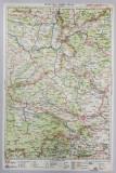 HARTA ZONEI CLUJ - TURDA - ZALAU , LITOGRAFIE de M.D. MOLDOVEANU , 1936