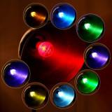 Bec decorativ LED E27 3W, 16 culori, cu telecomanda