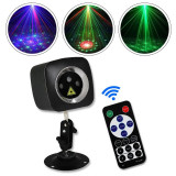 Cumpara ieftin Proiector laser RGB de interior, senzor sunet, 5 moduri iluminare, telecomanda, USB