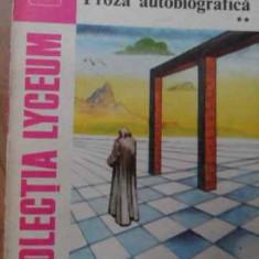 Teatru Proza Autobiografica Vol 2 - Lucian Blaga ,520310