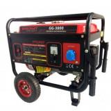 Generator benzina Worcraft GG-3800, WT170F, putere max 3.1 KW, AVR, roti transport