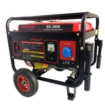 Generator benzina Worcraft GG-3800, WT170F, putere max 3.1 KW, AVR, roti transport foto