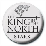 Insigna - Game of Thrones , King in the North   Pyramid International