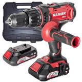 Raider Power Tools RDP-SCDI20 Masina de gaurit / insurubat cu percutie Li-ion 20V 2.0 Ah ,50Nm