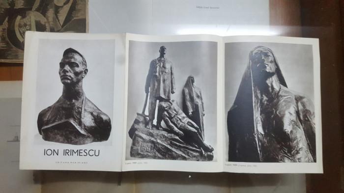 Ion Irimescu , Pliant, 7 ilustrații alb-negru