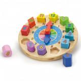 Puzzle din lemn Ceas, New Classic Toys