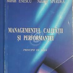 Managementul calitatii si performantei. Principii de baza