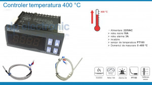 Termostat electronic digital Controler temperatura 220 V 5-400 °C
