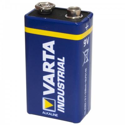 Baterie Alcalina Varta Industrial 9v foto