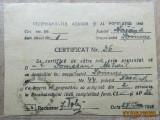 Cumpara ieftin Certificat.Recensământul agricol şi al populaţiei din ianuarie 1948.