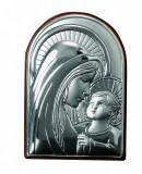 Maica Domnului si Pruncul Foita de Argint 6x9cm Cod Produs 460