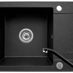 Set Chiuveta Pyramis MINI SMART 1B1D 62x46 + Baterie Black