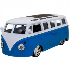 Autobuz de jucarie cu sunete si lumini, 14x5x5 cm ,albastru
