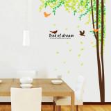 Sticker decorativ camera de zi Padure si pasari
