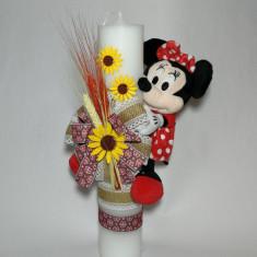 Lumanare pentru botez, 35X7 cm Disney - Minnie Mouse