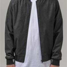 Imitation Leather Raglan Blouson
