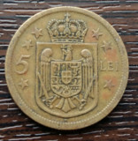 (MR44) MONEDA ROMANIA - 5 LEI 1930 H, REGENTA , MIHAI I