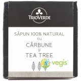 Sapun Natural Cu Carbune Si Tea Tree 110Gr