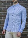 Camasa de vara  - camasa slim fit camasa in dungi camasa barbat camasa moda