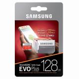 Card memorie MicroSDXC Samsung EVO Plus cu adaptor 128GB Clasa 10 UHS-1 U3 MB-MC128GA/EU