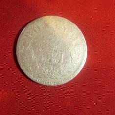 Moneda 2 Lei 1875 Carol I ,argint , cal. mediocra