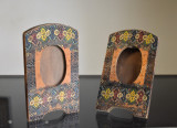 Doua Rame din lemn sculptat / pictat - Stilul Brancovenesc Neoromanesc cca. 1920