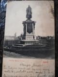 Carte postala Iasi, statuia Miron Costin, clasica, circulata, stare buna, Necirculata, Fotografie