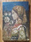 Cumpara ieftin Tablou foarte vechi Transilvania, pe scândură, nesemnat, 21 x 30 cm, Portrete, Pastel, Realism