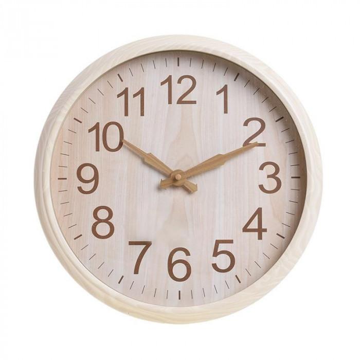 Ceas de perete Lovely, rotund, rama melamina, bej, diametru 30 cm