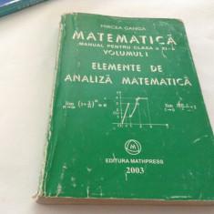 Mircea Ganga - Matematica manual pentru clasa XI -a VOL . I 2003--RF16/1