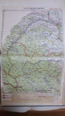 Harta Storojineț, Câmpulung, Moldova-Sulița, Vama, Cozmeni, Vijnița, 1928 foto