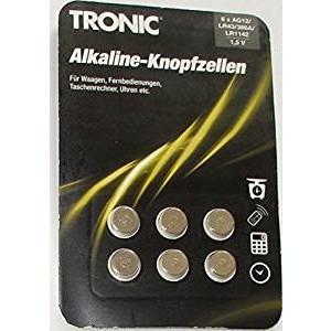 Set 6 baterii cu buton alcaline Tronic AG12/LR43/386A/LR1142