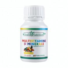 MULTIVITAMINE SI MINERALE 100% naturale, 120 capsule